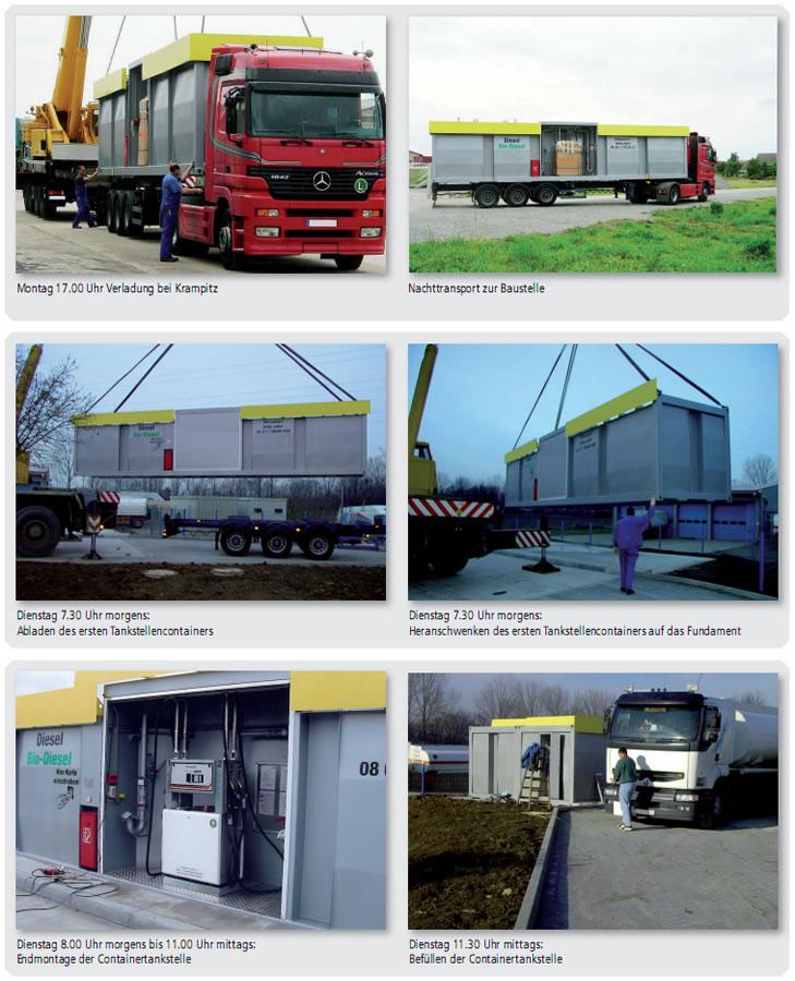 MINOTAUR® Tankstelleneinheiten - Montage