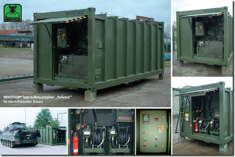 Tankstellencontainer Bundeswehr