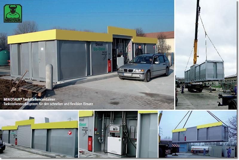 Tankstellencontainer Modulsystem