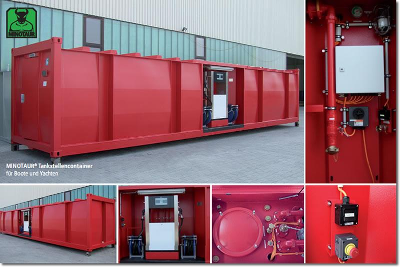 Tankstellencontainer zur Flugfeld- und Bootsbetankung