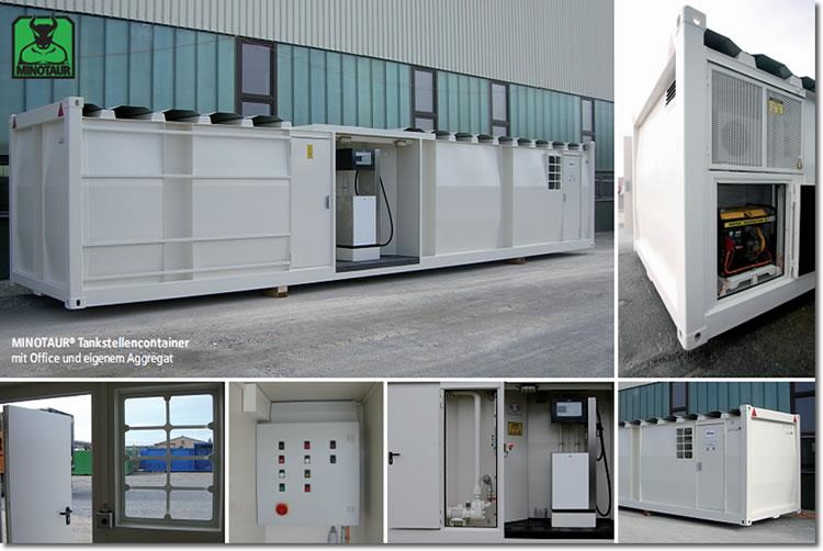 Tankstellencontainer mit Office